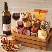 Father's Day Snack Crate with Wine